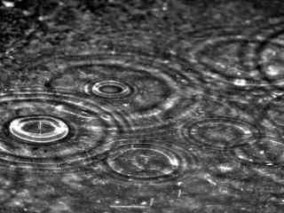 雨水的形状win8桌